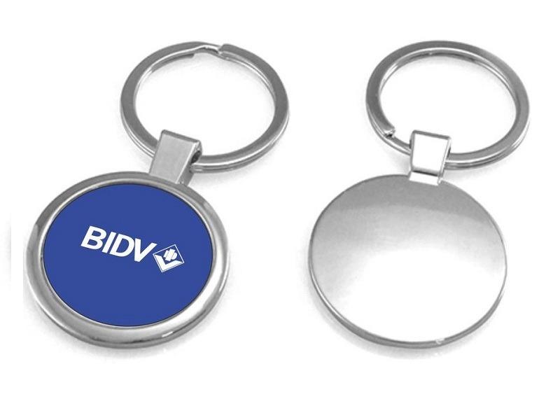Móc khóa quà tặng kim loại ngân hàng BIDV