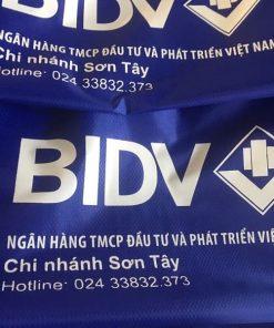 Áo mưa in logo khách hàng BIDV Sơn Tây