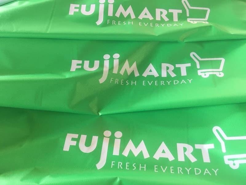 Áo mưa in logo khách hàng Fujimart