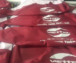 Áo mưa in logo khách hàng Viettel Thừa Thiên Huế