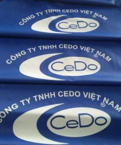 Áo mưa vải dù in logo khách hàng Cedo