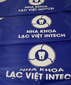 Áo mưa vải dù in logo khách hàng Lạc Việt Intech