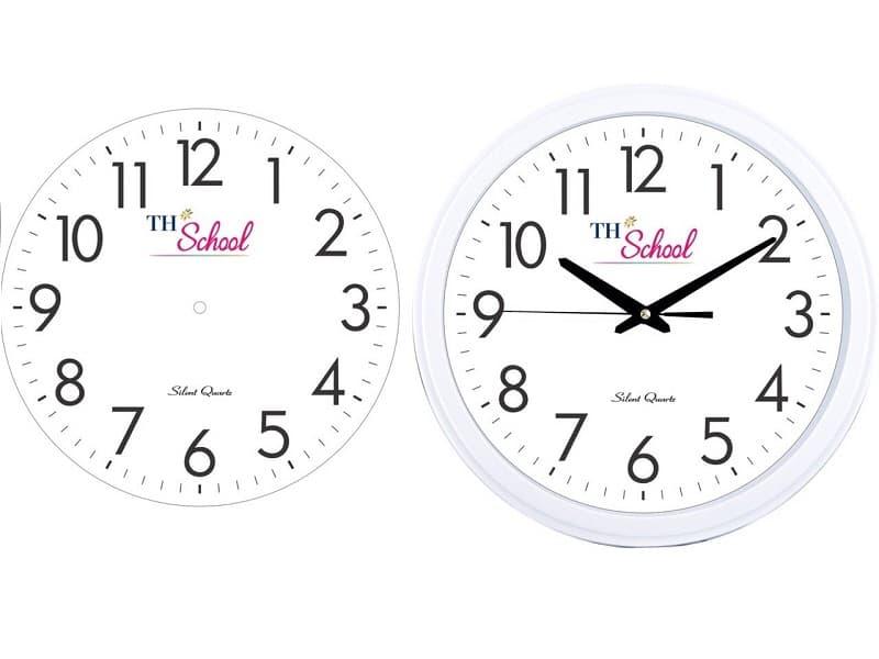 Đồng hồ in logo THSchool