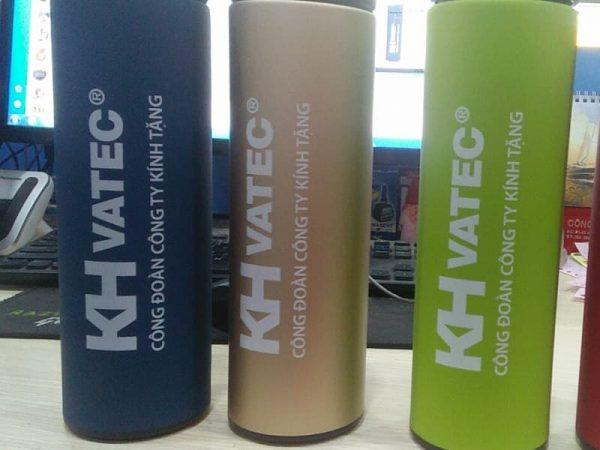 Bình giữ nhiệt in logo công đoàn công ty KHVatec