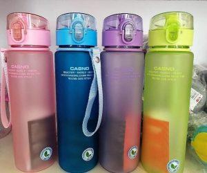 Bình nước nhựa in logo khách hàng Fujixerox