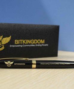 Bút ký khắc logo khách hàng Bitkingdom