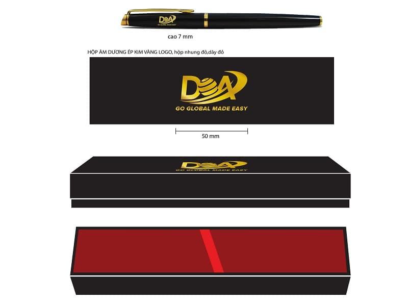 Bút ký khắc logo khách hàng DOA Global