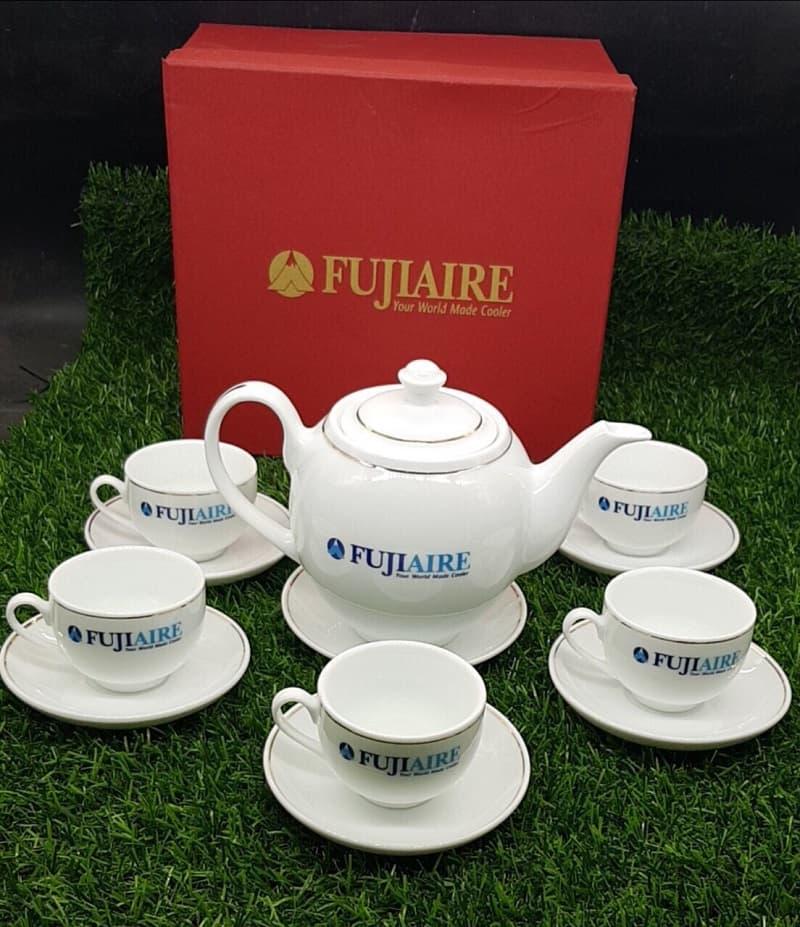 Bộ ấm chén in logo Fujiaire