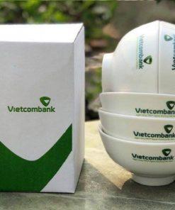 Bộ bát ăn in logo khách hàng Vietcombank