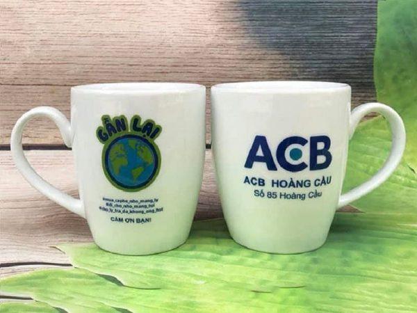 Cốc sứ logo ACB
