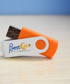 USB in logo khách hàng Bestcare