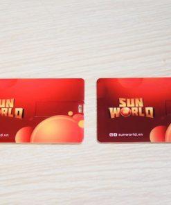 USB thẻ in logo khách hàng Sunworld