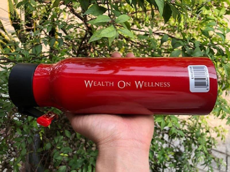 Bình giữ nhiệt khắc logo Khách hàng Wealth on Wellness